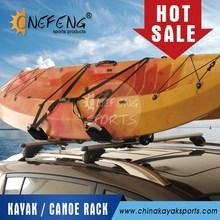 Foldable aluminum kayak rack carrier