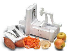 three-in-one fruit vegetable cutting machine vegetable spiral slicer cutter