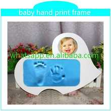 Customed Baby Foot Hand Prints Frame clay handprint and footprint with picture frame