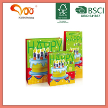new products 2014 birthday gift packaging cake 3D wholesale alibaba printing paper shopping bag