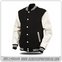 2016 custom wool varsity jackets, jacket men with leather sleeves