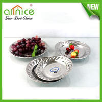 hotel series fruit plate/stainless steel day fruit tray/fleury cake plate