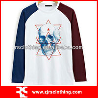Mens 100% Cotton Long Sleeve T Shirt with Soft Print