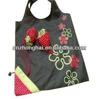Ployester Strawberry Foldable shopping bag/ Foldable Strawberry Shopping bag