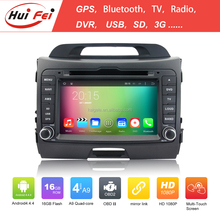 Shenzhen Factory 7 Inch Touch Screen Car DVD GPS For Kia Sportage Pure Android 4.4 Quad-core