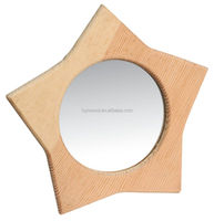 star shape wooden mirror frame for home decoration hot sale for laydies