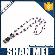 fashion stretch women's black hematite stone necklace