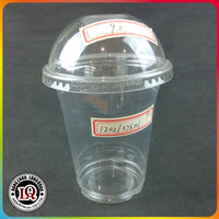 China 92mm Dome cover with 375ml 12oz Disposable Plastic PET Cup