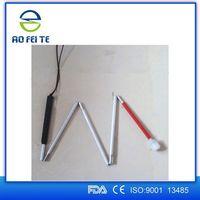 Blind aluminum walking Cane, Walking Stick, foldable, telescopic, rolling tip
