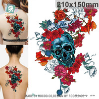 LC-701/New 2015 cool Skeleton flowers arm sleeves tattoo stickers big