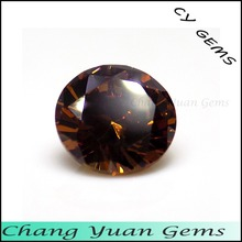 Beautiful Smoky color Round shape cubic zirconia stone