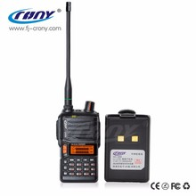 Hot sale phone walkie talkie 10km dual band LCD display 2 way radio china