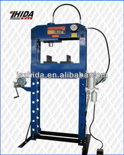 Auto 40t hydraulic/pneumatic shop press with movable ram/With CE