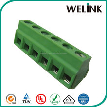 Plastic electrica pitch 5.08mm mini pcb terminal block 45 degree screw