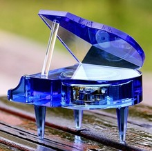 mini crystal grand piano gift
