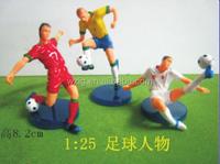 1:25 miniature soccer figures plastic scale mode football player figure