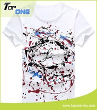popular cotton t shirt/ new pattern printing t-shirt/o neck t-shirts made in guangzhou