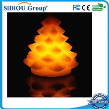 led flameless wax led christmas tree candle light