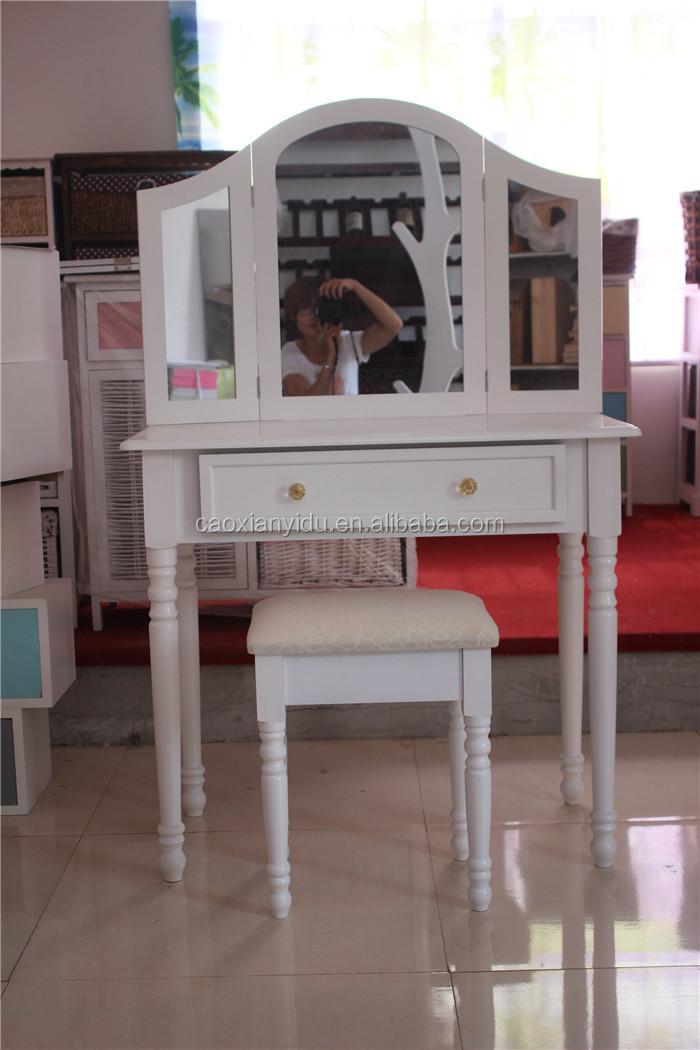 Elegante de madera lacado en blanco muebles del dormitorio k/d ...