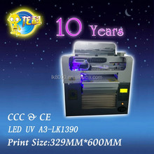 LED UV A3-LK1390 Multifunctional UV flatbed printer for glass/ceramic/wood/PVC and so on