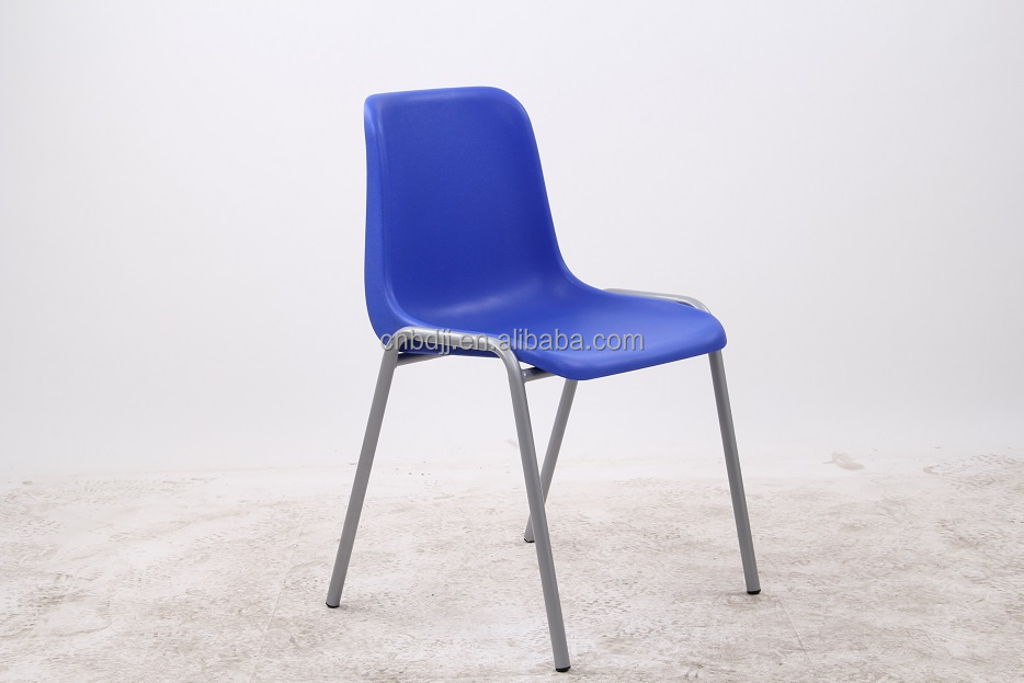 Modern Best Seller Cheap Stackable Plastic Chair With Gray Raw Steel Table Legs Satin Single Leg
