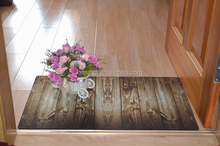 2015 fashion Non woven printed Rubber backing carpet mat