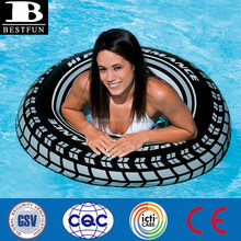 factory supply promotional inflatable tyre swimming rings plastic fake inflatable used tire for sale