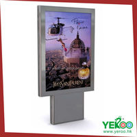 Rectangle backlit aluminum advertising multi light box