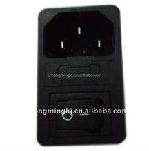 AC power socket with 2 pin rocker switch