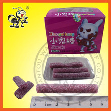 Grape Filled Gummy Stick Candy/ Fruity Chewing Stick candy