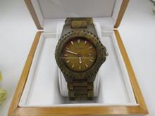 China supplier green sandal digital wood watch fashion lady women watch