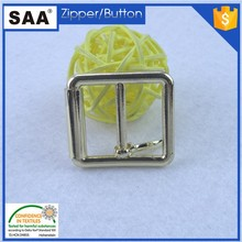 2.5CM fashion belt roller buckle with pin in shiny gold color