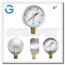 High quality stainless steel brass internal wika style bourdon tube pressure gauge