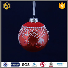 Wholesale hanging hollow decorative glass balls with beads