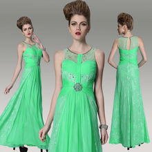 DORISQUEEN Dropshipping cheap green dubai kaftan 2014 prom/cocktail/homecoming long dresses evening dresses with stones