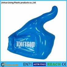 Factory direct sales inflatable hand ,inflatable one finger ,promotional hand