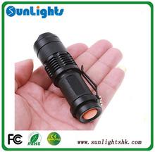 7W 1200LM Mini Adjustable Focus Zoom LED Flashlight tactical led flashlight