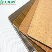 Colorful Wooden Finished Aluminum composite panel/Wall Cladding/Facade Usage