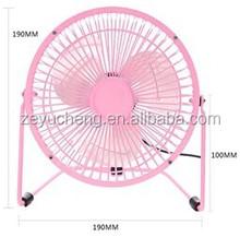 4/6 inch 5v dc usb mini fan for computer