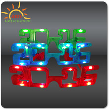 happy new year 2016 LED Sunglasses Flashing Light Sunglasses