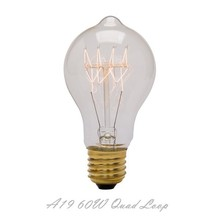 High Quality Quad loop Vintage A19 E26/27 60W En Bulb Antique Decorative Ball Light Made in China