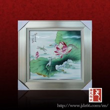 Hot sale excellent quality summer lotus handicraft pictures art painting