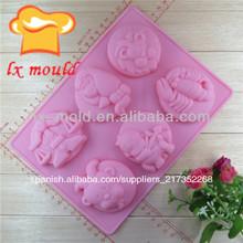 rosa de silicona en forma de torta del molde