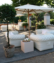 Multicolor lounge plastic inflatable soft sofa for cafe furniture, air filled sofa chair