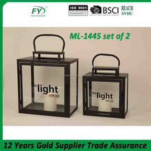Top Seller Cheap classic home decoration metal lantern ML-1445 set of 2