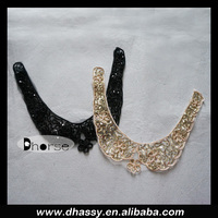 New product gold sequied neck design of ladies suit