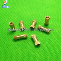China manufacturing Brass Inserts Straight Knurl Single Groove