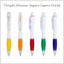 2015 new novelty design ball point pen with led light