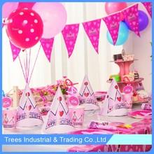 party decorating supplies princess paper banner kit hat set