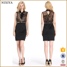 Scarf Neck Design Bodycon Office Dress